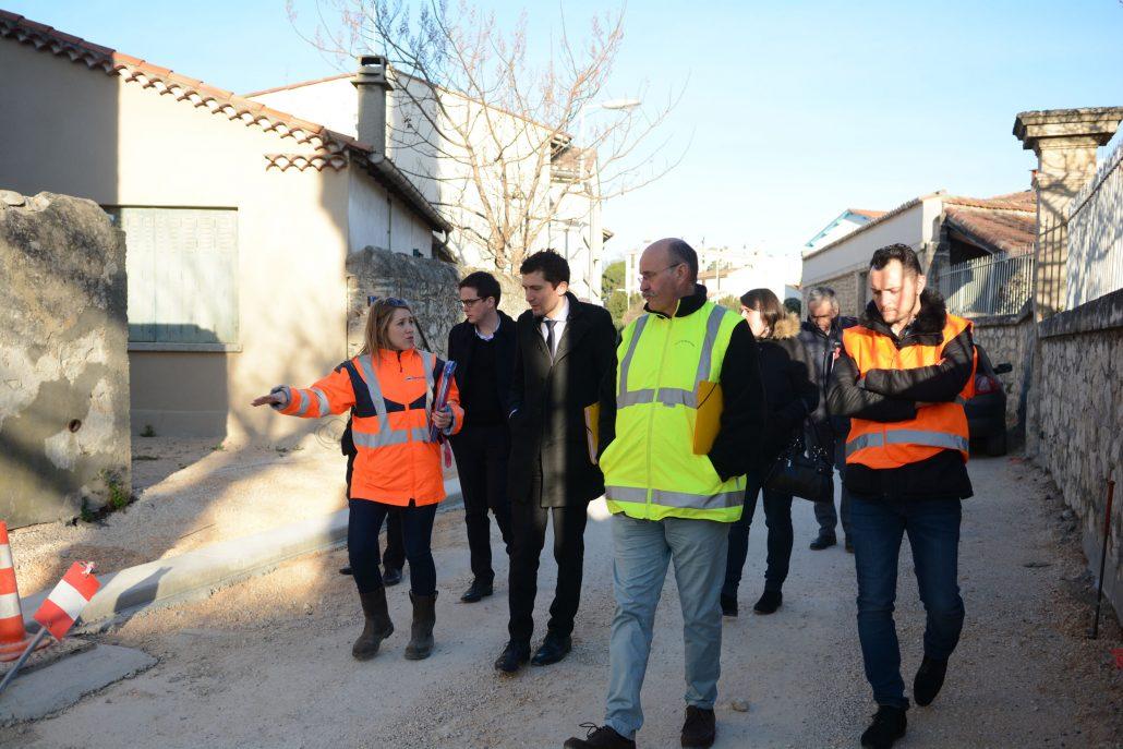 R seaux archives le site officiel de la ville de beaucaire for Visite de chantier