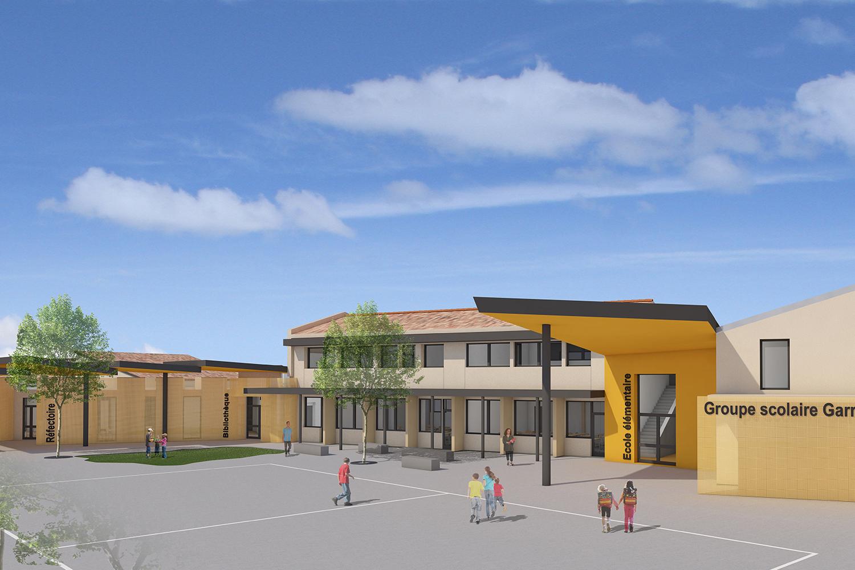 Agrandissement-et-rénovation-de-l'école-Garrigues-Planes